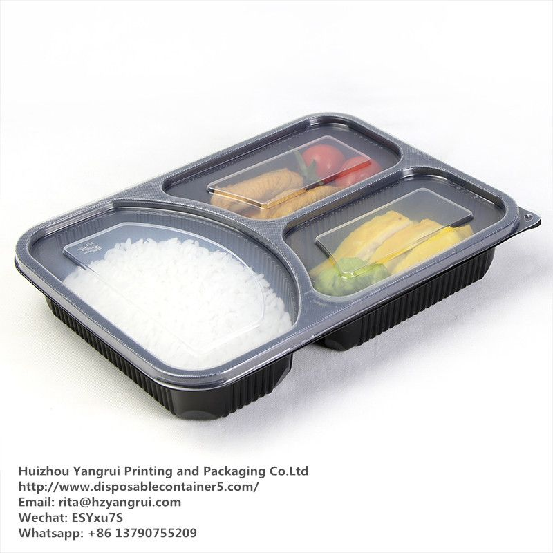 Food Grade 100 New Material 3 Compartment Disposable Food