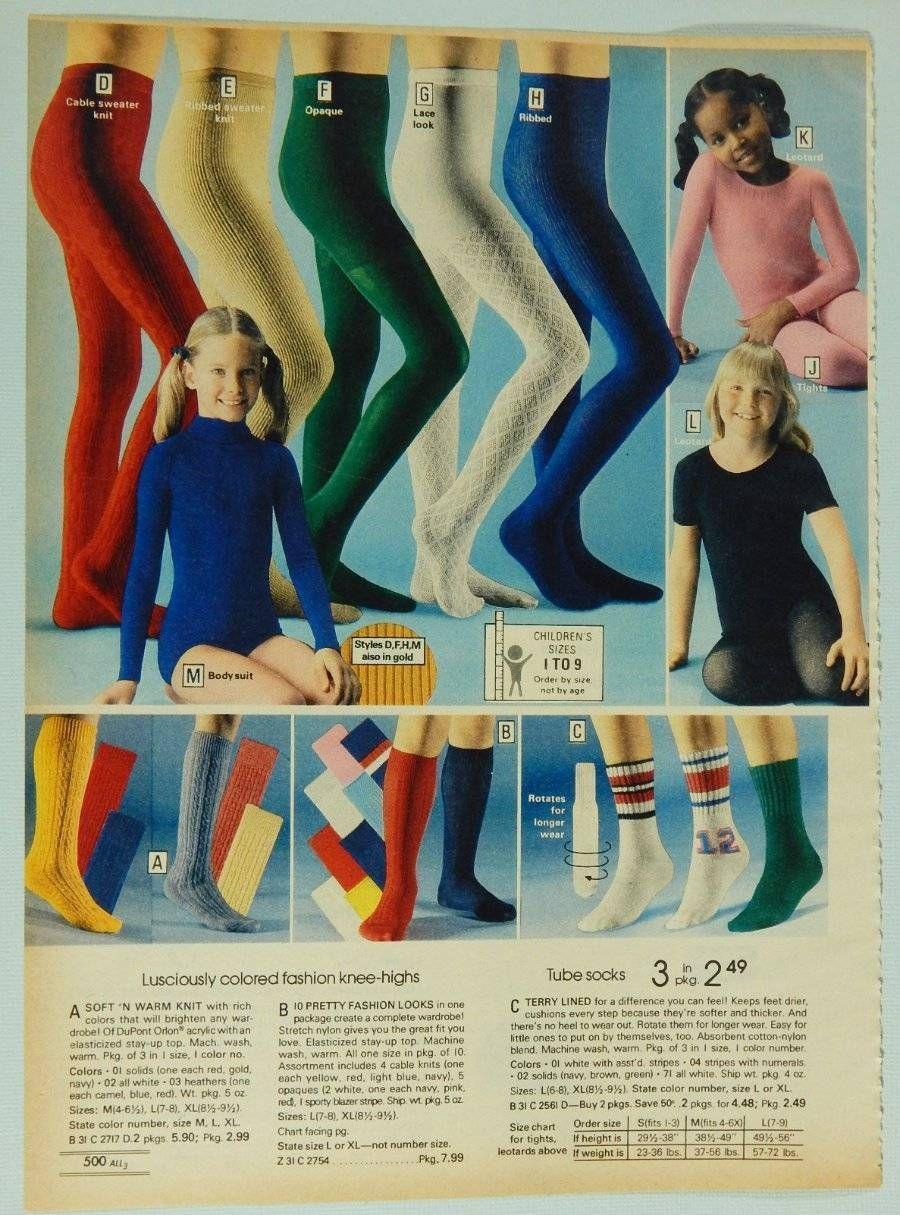 f259e57a0 Girls  Tights Leotards Socks - Vintage 1978 Montgomery Wards Catalog ...