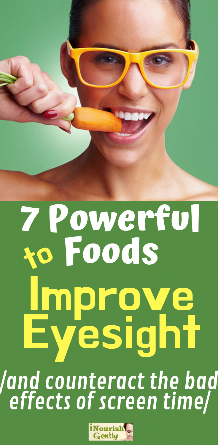 HERE ARE 7 PLANT #FOODS TO EAT MORE OF IN ORDER TO STRENGTHEN AND IMPROVE YOUR #VISION! #NaturalHealingHomeRemedies