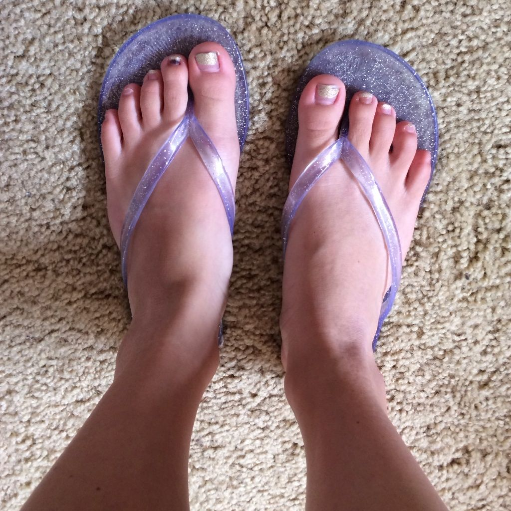 Super comfy clear jelly flip flops Jelly flip flops
