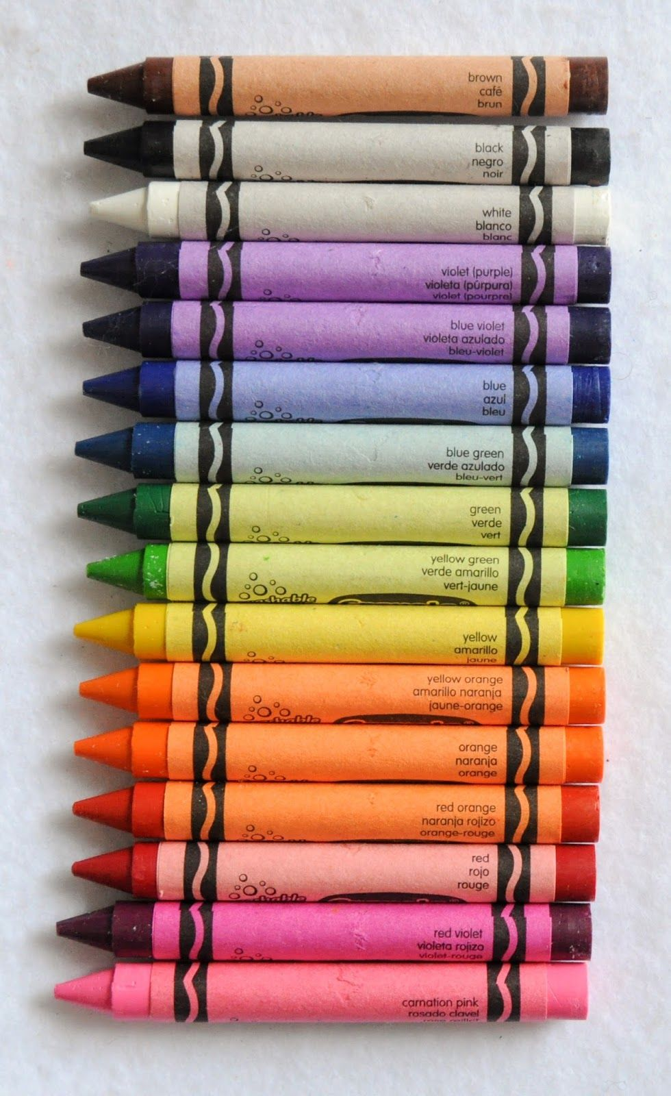4 16 And 24 Count Crayola Washable Crayons What S Inside The