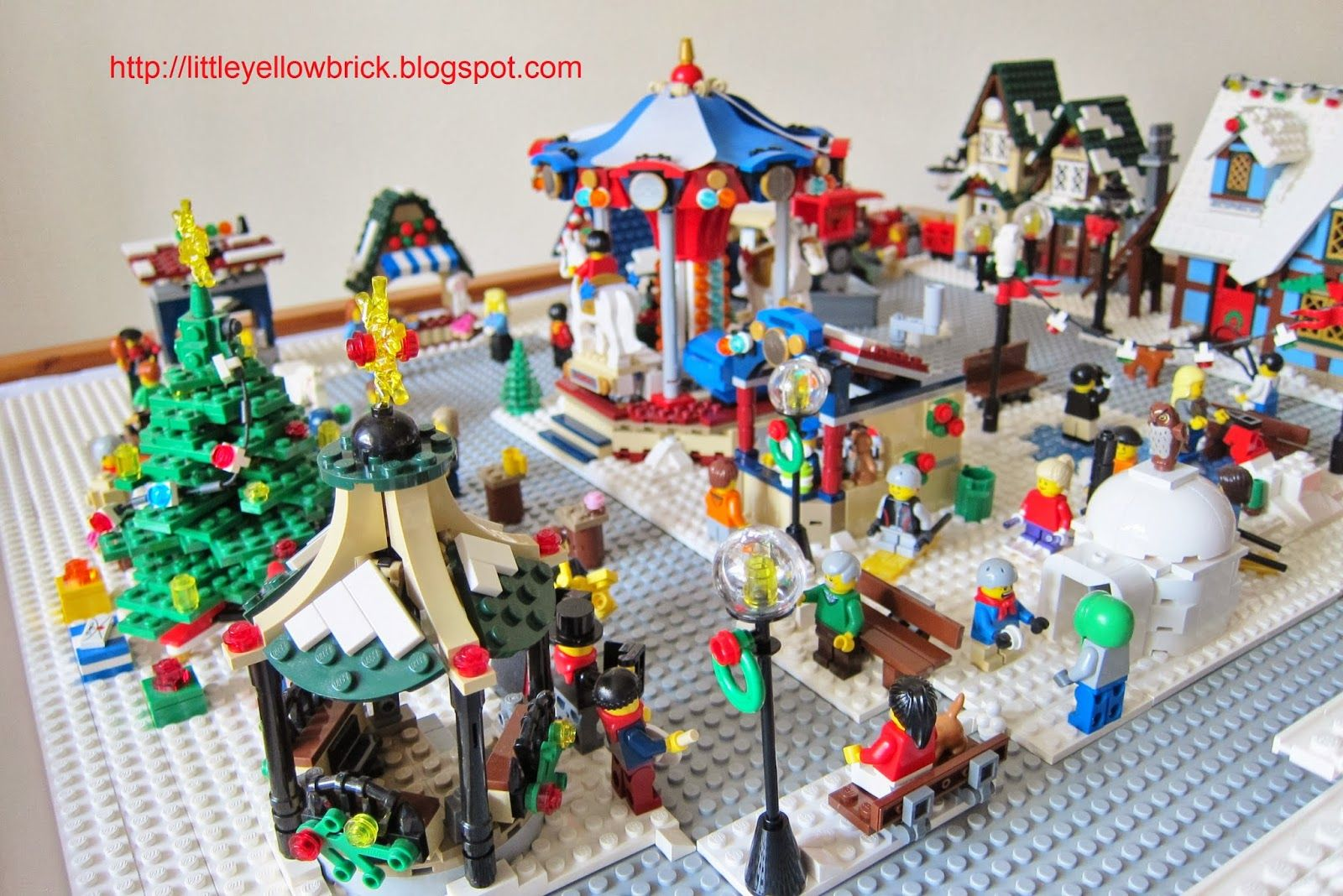 Pin lego 60032 city the lego summer wave in official images on - Little Yellow Brick A Lego Blog Our Lego Winter Village Town Moc 10199 Winter Village Toy Shop 10216 Winter Village Bakery 10222 Winter Vill