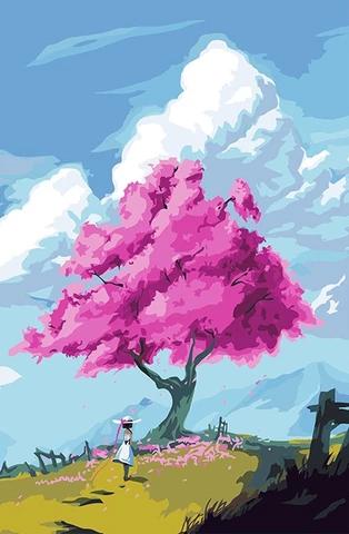Walnut Tree Landscape Paint By Numbers Landscape Paintings Easy Landscape Paintings Landscape Photography Art