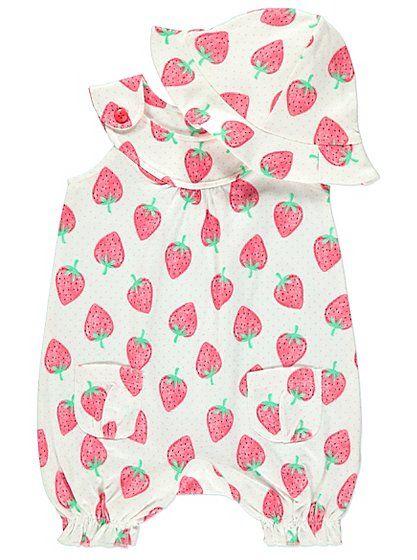 George Baby Girl Romper Set Girls' Clothing (newborn-5t) Baby & Toddler Clothing
