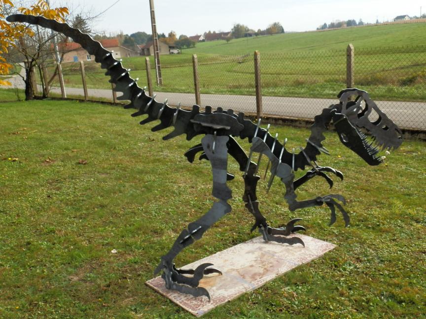 T Rex Dinosaur Garden Sculpture Made from Metal