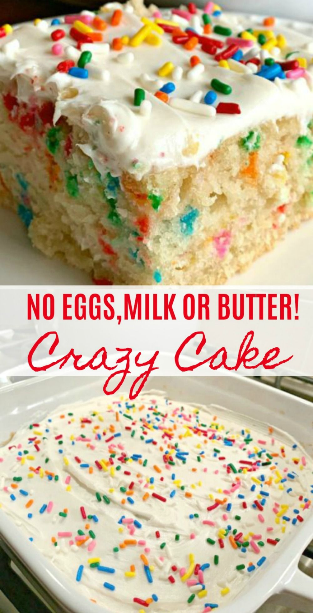 The BEST Vanilla Crazy Cake (No Eggs, Milk or Butter)
