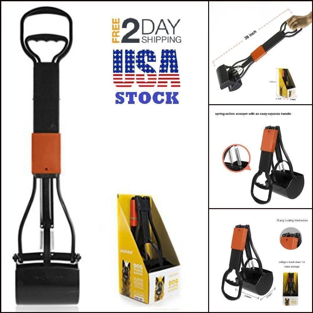 Dog cat pooper scooper pick up shovel handle foldable pet