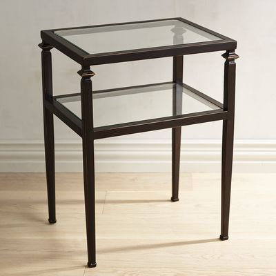 Lincoln Tempered Glass Top End Table Glass Top End Tables