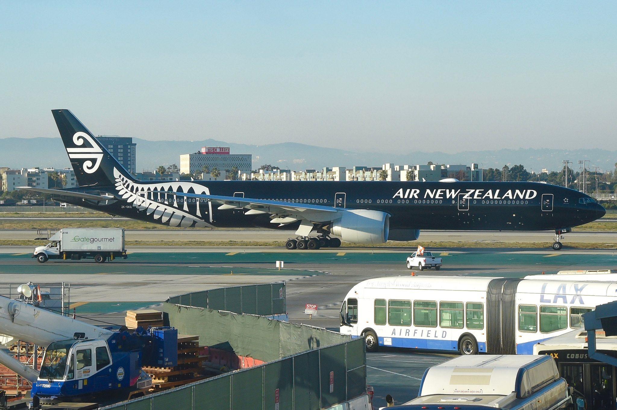 Air New Zealand Boeing 777300ER; ZKOKQLAX;31.01.2018