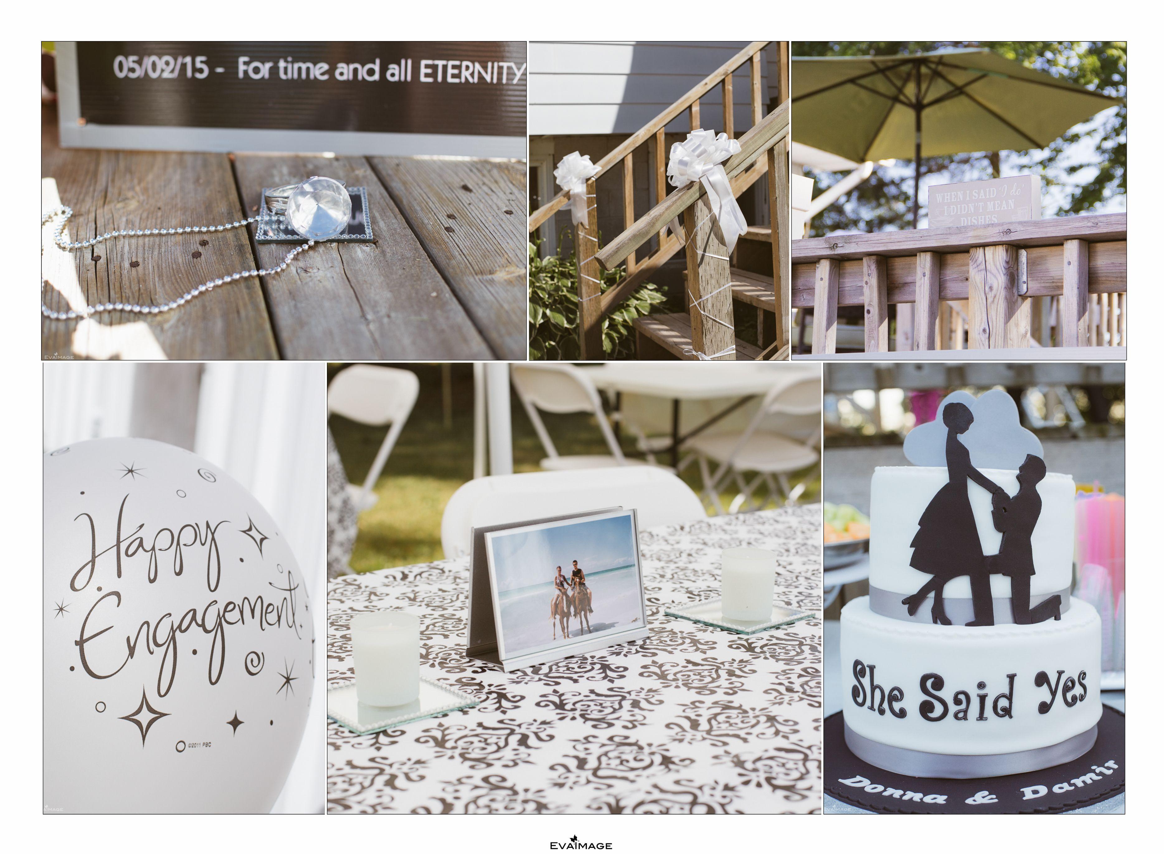 Summer Engagement Party Decor Ideas, Engagement Balloons, Engagement ...