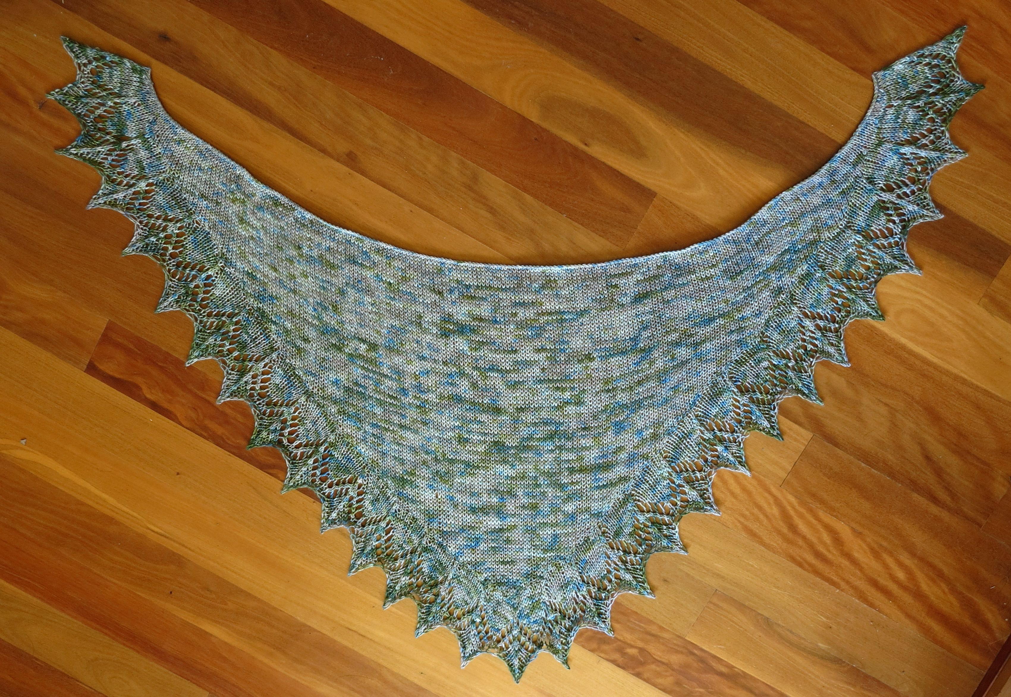 Hand Knit Shawlette