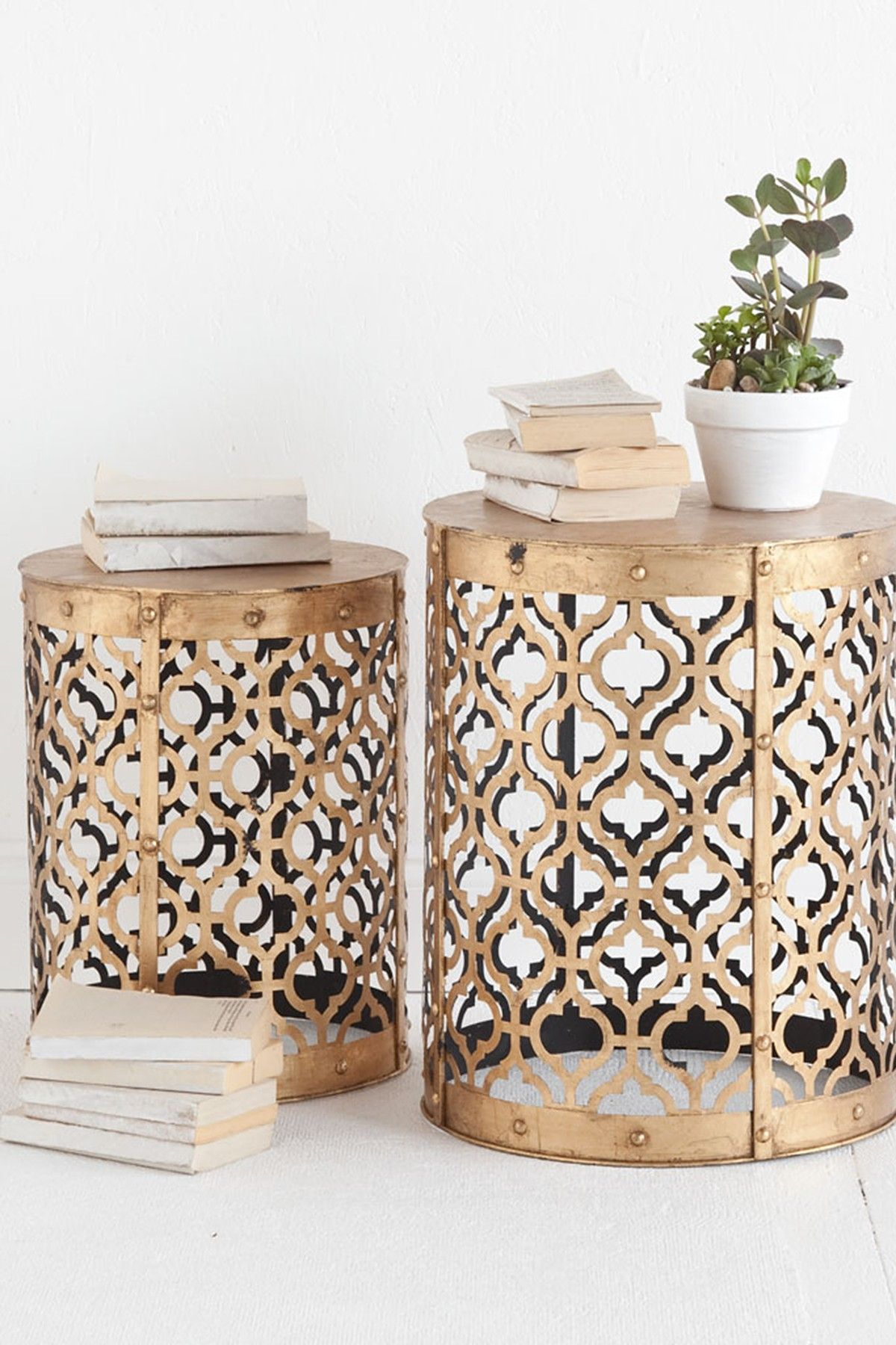 Metal Side Tables For Bedroom Rudebekia Side Table Set Of 2 By Mercana On Hautelook Diy