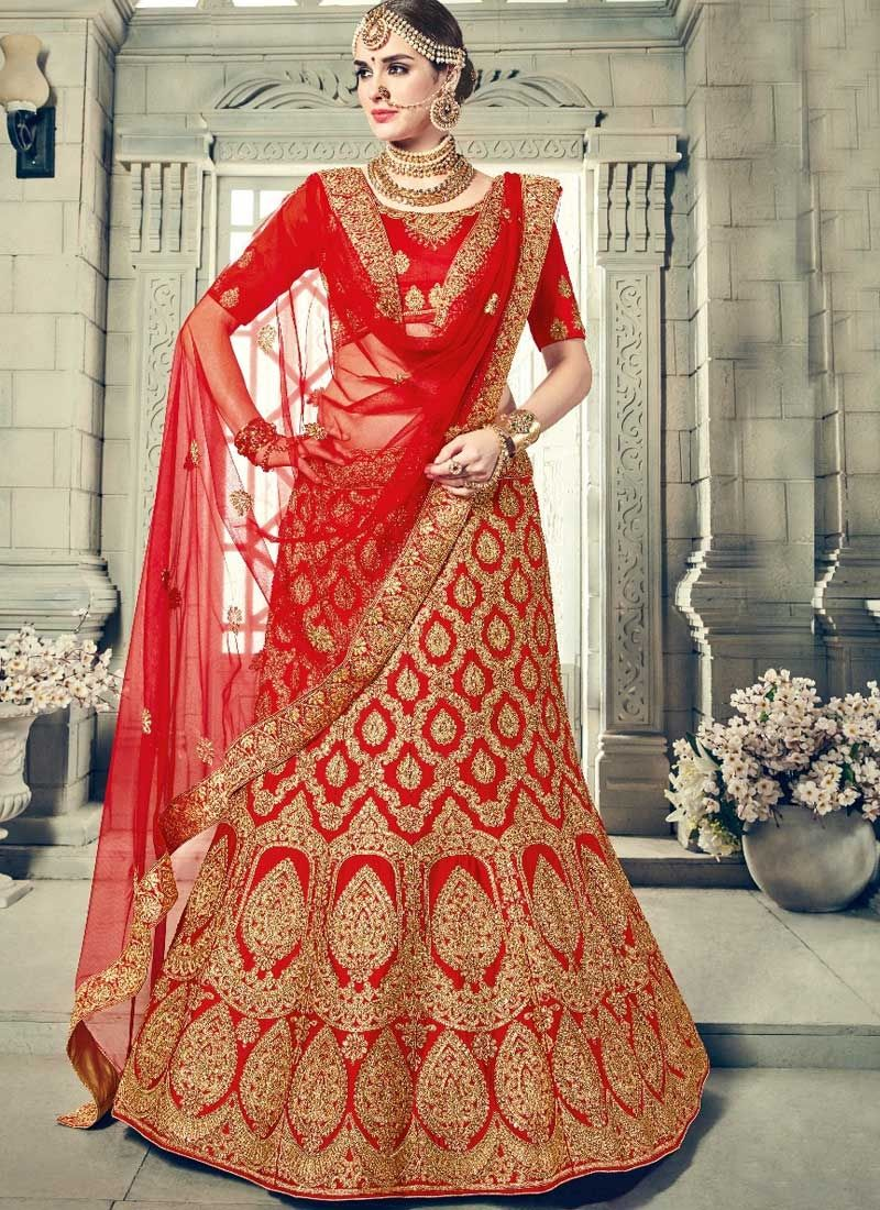 725e6c2acf Shop Color Dark Red Art Silk Lehenga Choli Online | Lehenga Choli ...