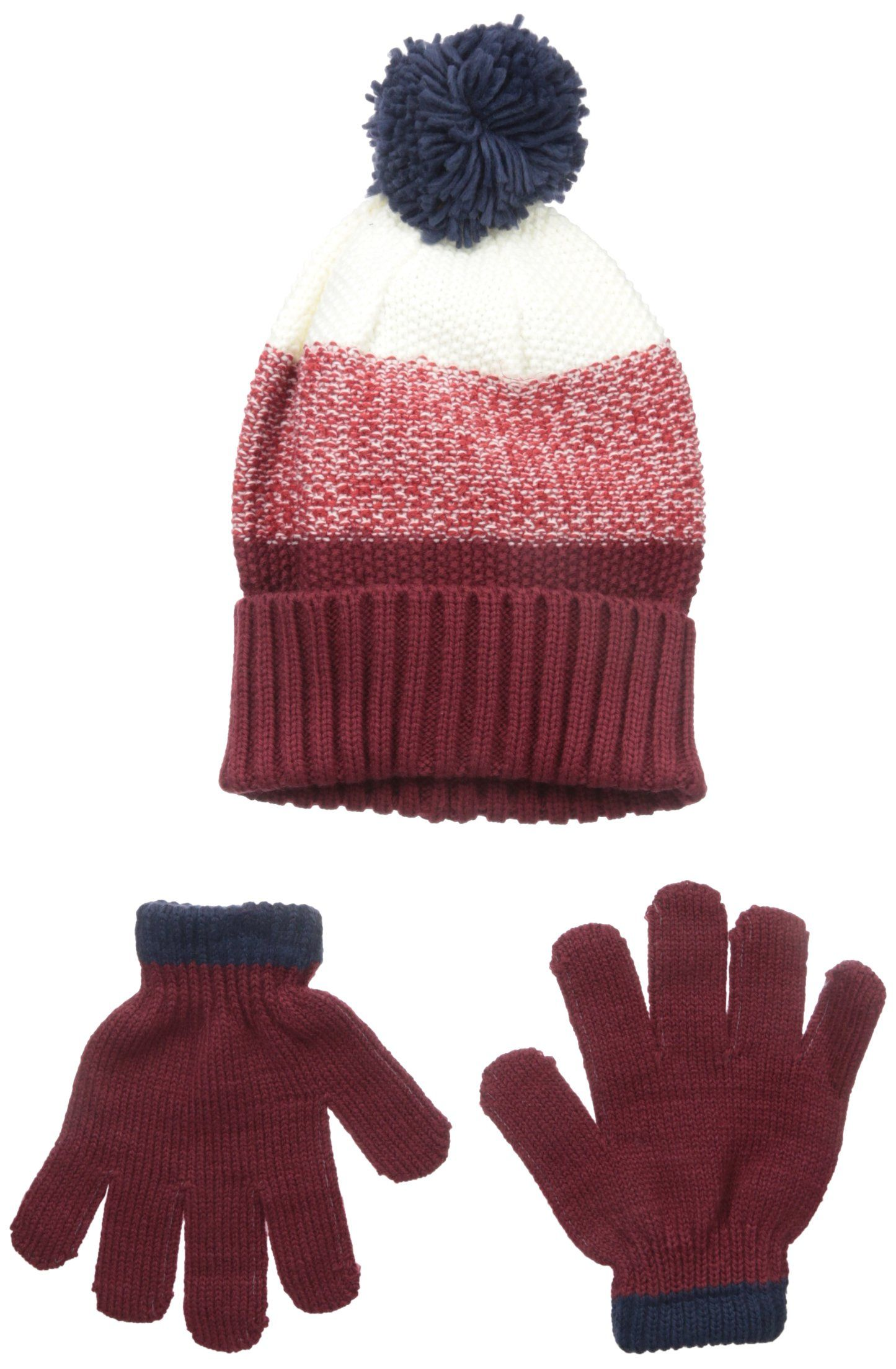 Boys Peruvian Double-sewn 3-piece Glove Hat /& Scarf Set