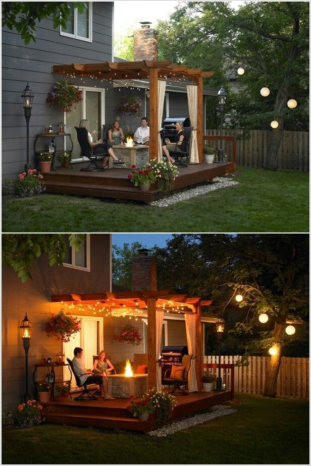Awesome 15 diy backyard and patio lighting projects