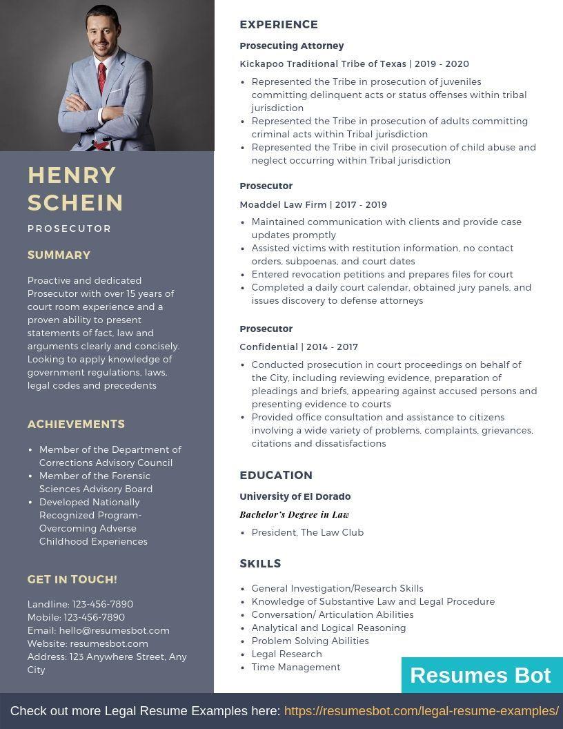 Prosecutor Resume Samples & Templates [PDF+DOC] 2019
