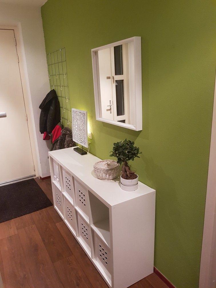 Wit En Pesto Groen Kallax Kast Ikea Spiegel Ikea