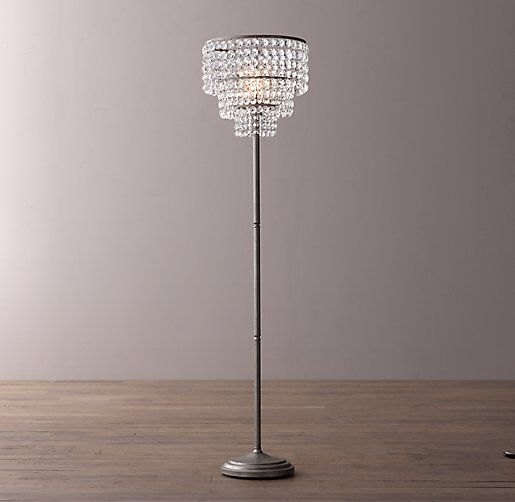 Soho Crystal Floor Lamp Crystal Floor Lamp Silver Floor