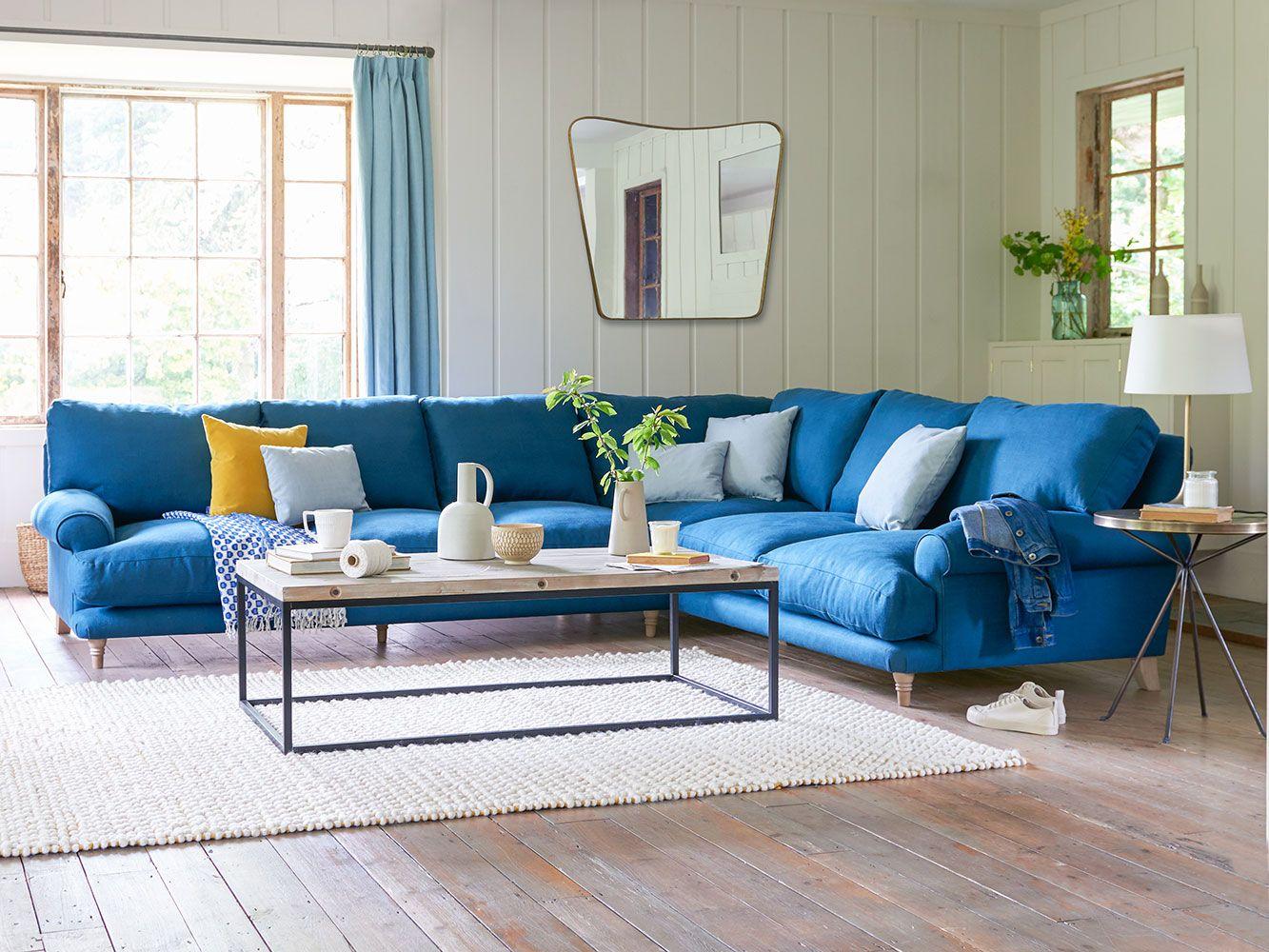 Slowcoach Corner Sofa In 2020 Blue Corner Sofas Corner Sofa