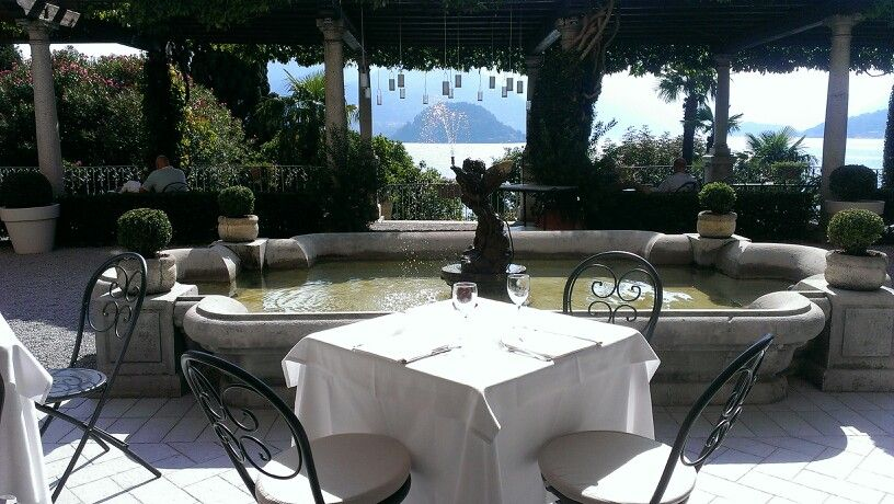 Lake Como dining area with a view