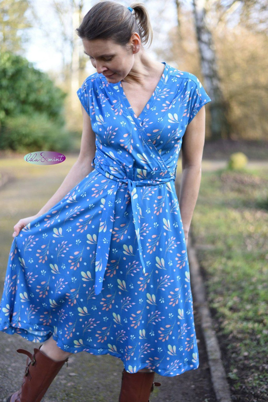 Frühlingsduft Katharina - lila mint - nähen und bloggen ...