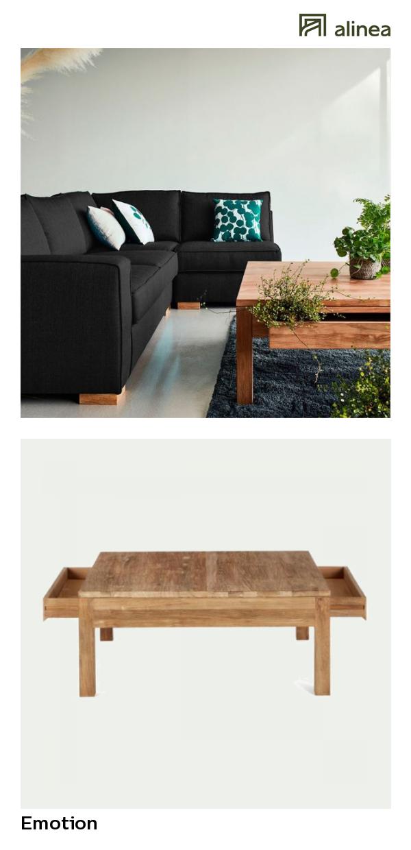 Alinea Emotion Table Basse En Teck Recycle Avec 2 Tiroirs 100x100cm Meubles Salon Tables Basses Et D Appoint Alinea Decoration Table Teck Tablebasse