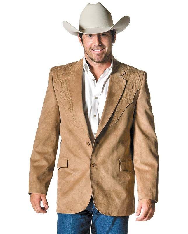 Men S Tan Embroidered Western Sport Jacket Western Formal Wear Mens Western Wear Mens Outfits
