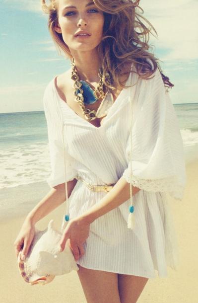 White beach dress / Jasmin inspired Fashion