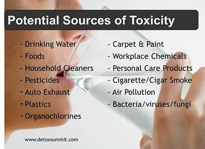 sources of toxins)