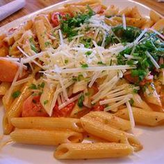 Penne Rosa- just like Noodles. Approximately 6 wwp+ per cup if using Barilla white fiber penne and a little extra marinara and cream. 11 for two cups