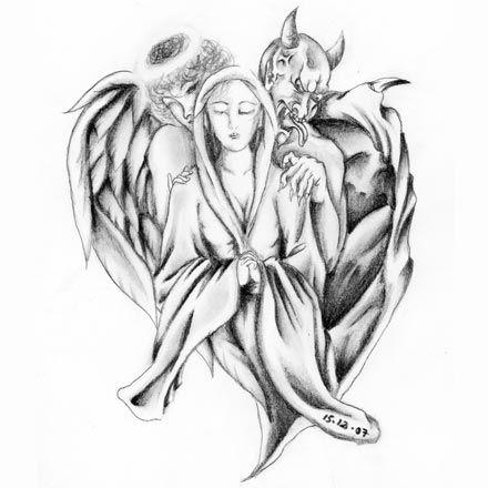 angel and devil tattoo的圖片搜尋結果 | Tattoo idea | Pinterest ...