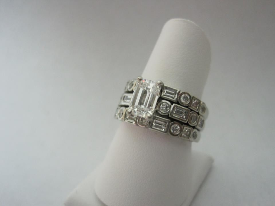 Lovely emerald cut diamond on CAD design!