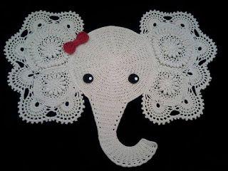Croche Com Receita Elefante Em Croche Quer Ser Tapete Mas Pode Se