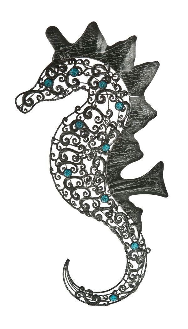 Large But Lightweight Decorative Metal Seahorse Wall Art 24 95 Rnli Seahorse Wall Art Coastal Decor Beach Decor