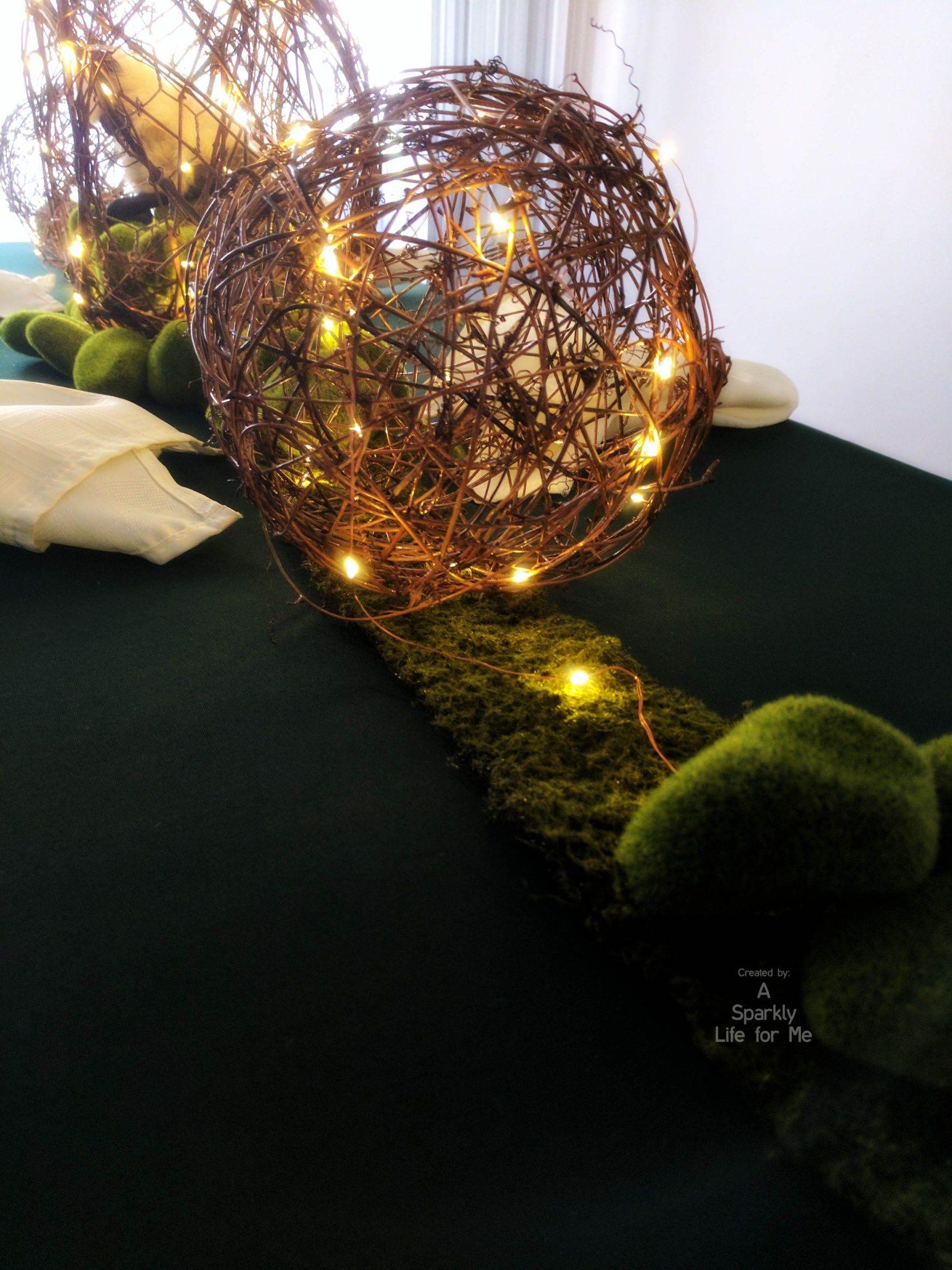 DIY Enchanted Garden Table Decor with Fairy Lights