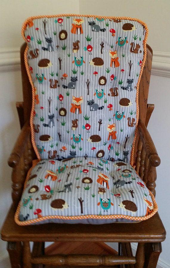 custom fox friends high chair cushions highcair pads wooden high