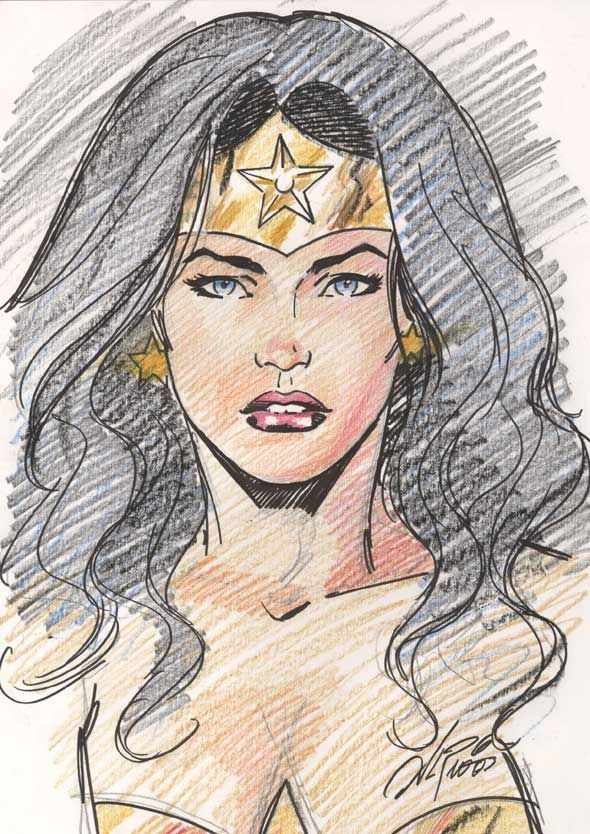 Wonder Woman. I wa t someone to draw this with my face and ww hair ...