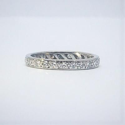 Diamond 18 Carat White Gold Eternity Ring