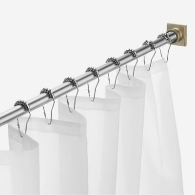 Legion 72 Adjustable Tension Shower Curtain Rod In Brushed Nickel