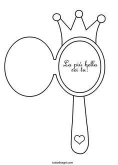 Biglietto festa della mamma da colorare specchio for A specchio in inglese