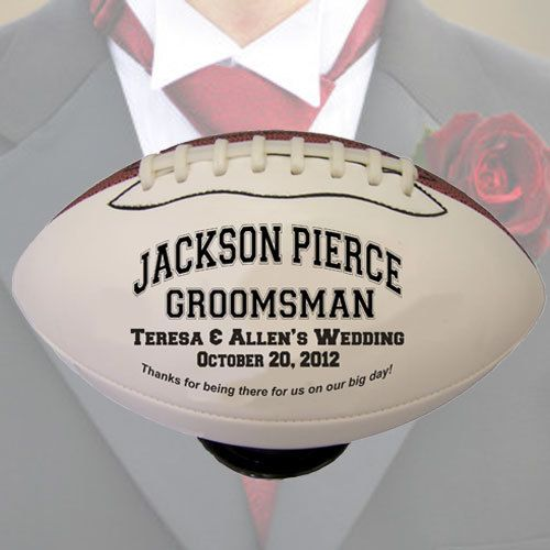 Our Full Size Personalized Footballs May Be Customized With Your Photo And Messge To Create Truly Unique Groomsmen Gifts