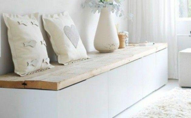 Wohnung einrichten Holzbank gemütliche Leseecke ibicenco Pinterest - Wohnung Einrichten Wie