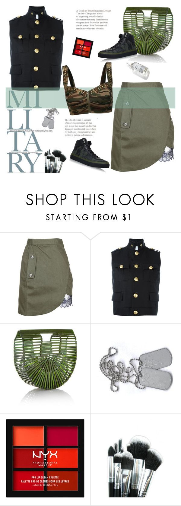 """""""Untitled #328"""" by craftsperson ❤ liked on Polyvore featuring self-portrait, Dsquared2, Cult Gaia, NYX, Jimmy Choo and prettyunderpinnings"""