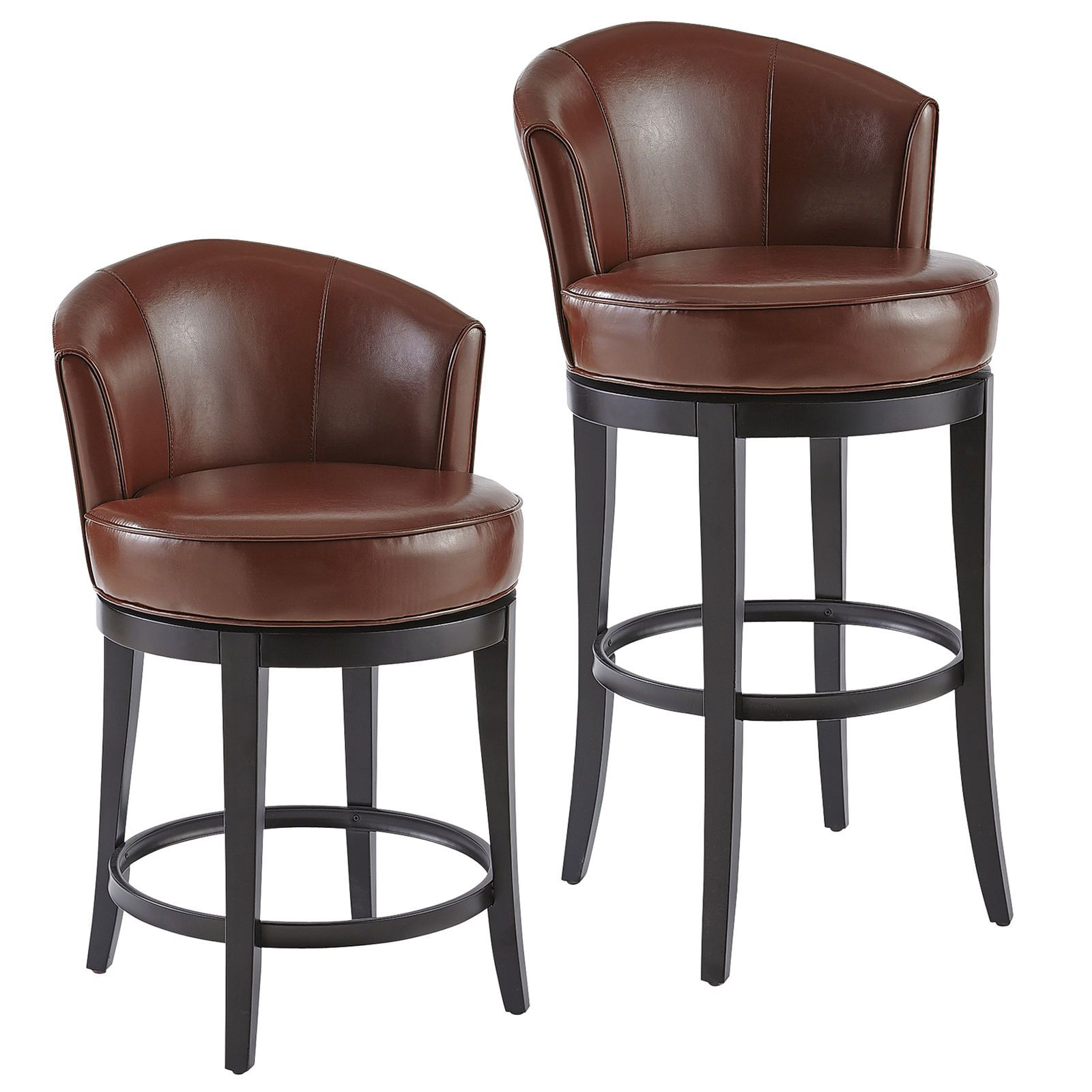 Isaac Saddle Swivel Counter & Bar Stool