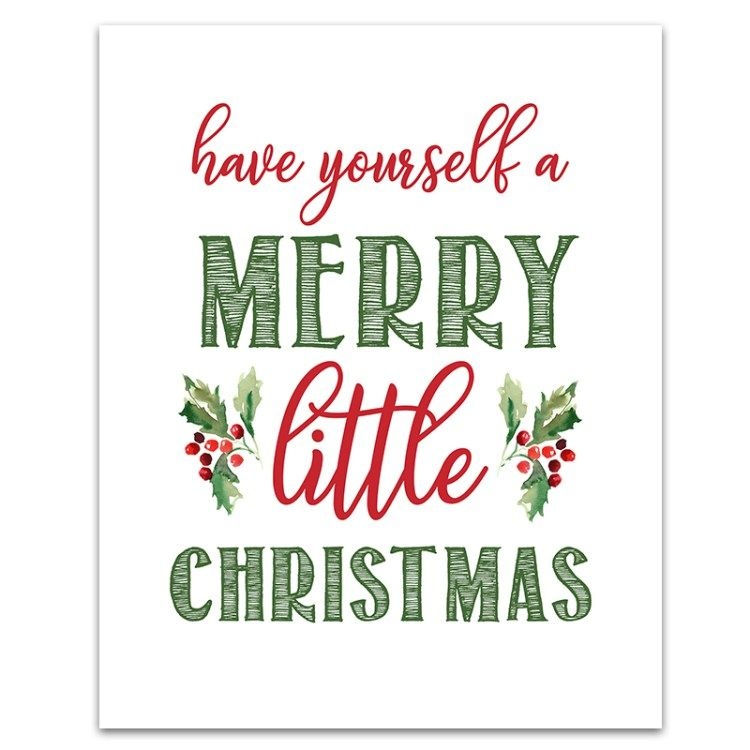 photo about Free Printable Signs called 6 Totally free Printable Xmas Indications THE Perfect OF 6 Intelligent