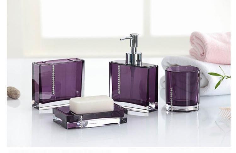 Purple Bathroom Accessories