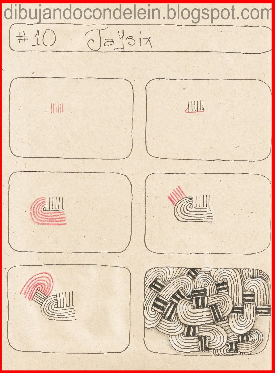 Como Dibujar Zentangle Art Paso A Paso Diseno 10 Zentangle Patterns Zentangle Pattern