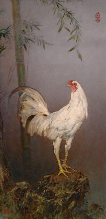 A Bantam rooster by Lee Man Fong (Chinese/Indonesian, 1913-1988).