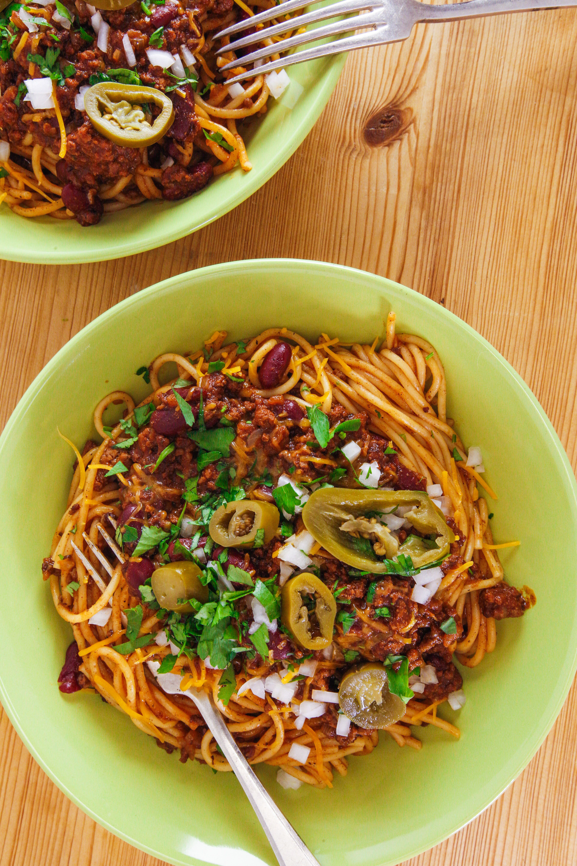 Rachael\'s Cincinnati/Kentucky Chili Spaghetti 5-Way Style | Rachel ...