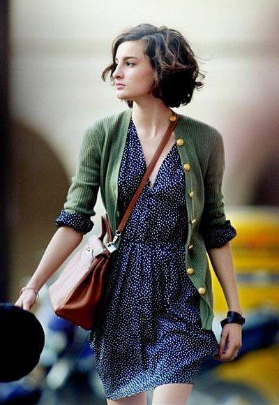 dress + cardigan